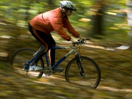 En som cyklar snabbt