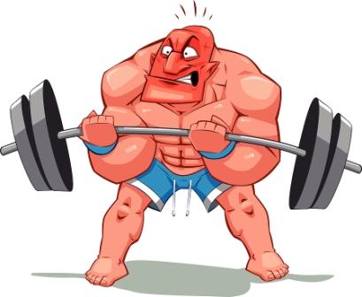 Bild på en man som lyfter tungt