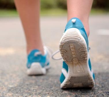 Bild på skor när man springer