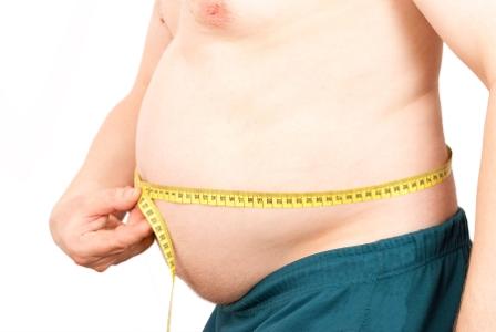 En överviktig tjock man